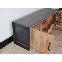 Meuble TV métal et bois industriel 190 'New york'