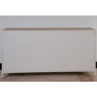 """Bahut 4 portes métal et bois Blanc """"Atelier Blanc"""""""