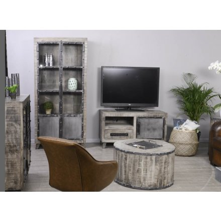 "Petit meuble TV en métal et bois industriel ""GÖTEBORG"""
