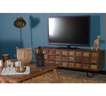 Meuble Tele Apothicaire En Bois Recycle Collection Nepalaise 7917