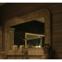 "Miroir encadrement pin massif ""Eglantine"""