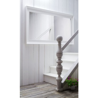 """Grand miroir en bois blanc """"Cygne"""""""