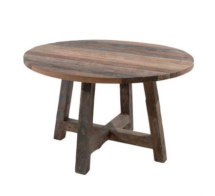 "Table ronde 140cm teck recyclé ""Andoma"""