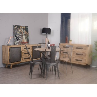 "Buffet industriel métal et bois  ""Malmo"""
