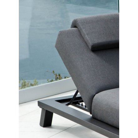 """Transat 2 places blanc et gris clair tissu Sunbrella """"Nusa Pedina"""""""