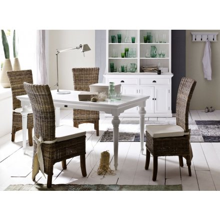 """Table de salle à manger rectangulaire 180cm """"Blanche"""""""