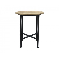"""Table de bar ronde en métal et bois 100cm """"Vegas"""""""