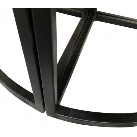 """Table ronde en bois de manguier et métal avec tabourets """"Tom"""""""