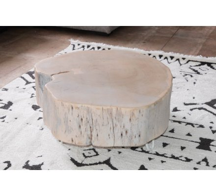 "Table basse bois ""Nervure"""