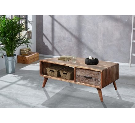 Table Basse Scandinave Rectangulaire Acacia Massif Oslo 7274