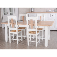 "Table de ferme chêne massif ""Artiblanc"" 210cm"