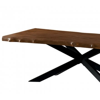 """Table de repas XXL avec plateau en teck et pieds mikado 280cm """"Valley"""""""