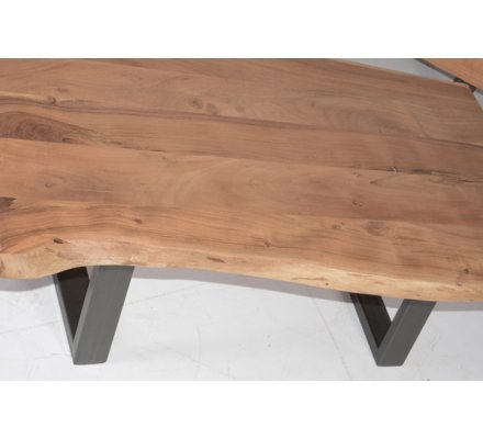 Table Basse Naturel Metal Et Bois Zen