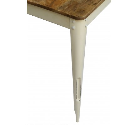 "Table haute snack bar loft 150x80 cm  ""Nola blanc"""