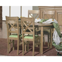 """Table ovale bi-ton """"Harmonie"""" pieds fuseaux 160cm"""