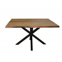 """Table à manger carrée 120x120 cm """"Zen Black"""""""