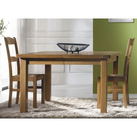 """Table rectangulaire 100 % chêne massif """"Bianca"""" 200cm ou 220cm + allonges"""