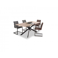 """Table de repas industrielle 200cm bois métal """"Star"""""""