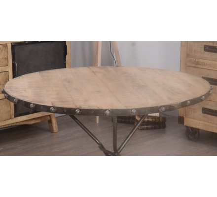 "Table ronde industrielle pliable ""Malmo"""