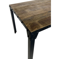 """Table de repas industrielle plateau bois et métal """"Atelier"""" 180 cm"""