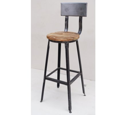 Tabouret De Bar Metal Et Bois.Chaise De Bar Metal Atelier Gray