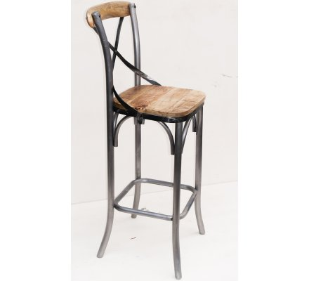 "Lot de 2 chaises de bar Loft ""Nola"""