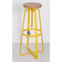 "Tabouret de bar en Métal a vis jaune ""atelier grey"""
