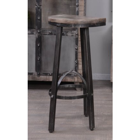 Tabouret de bar métal et bois gris 'GÖTEBORG'