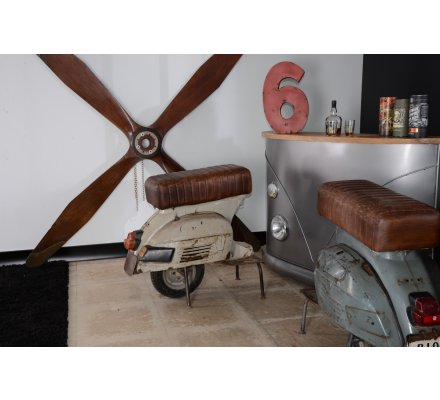 "Tabouret de bar Vespa ""Route 66"""