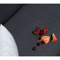 "Table bar et 6 tabourets extérieurs en tissu Sunbrella ""Java Island"""