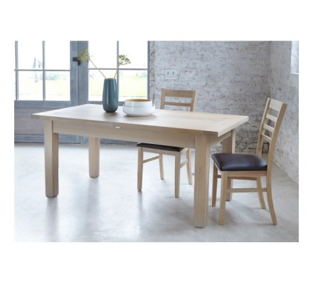 "Table chêne massif aspect brut ""Bellissima"" 160cm"