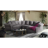 "Grand canapé d'angle tissu ""Ajaccio"""