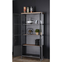"""Bibliothèque factory en métal et étagères en bois """"Downtoun"""""""