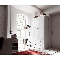 """Armoire 2 portes en bois blanc """"Cygne"""""""