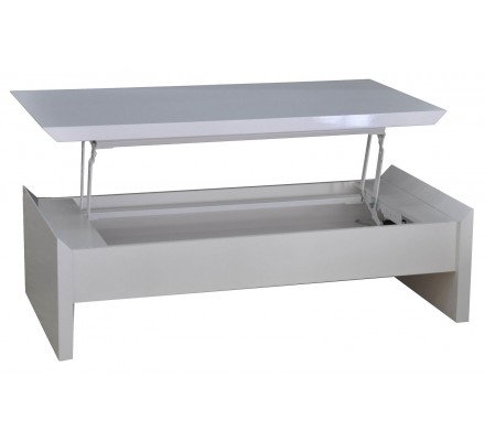 Table basse snack moderne blanche