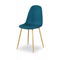 "Chaise scandinave tissu bleu ""Scano"""