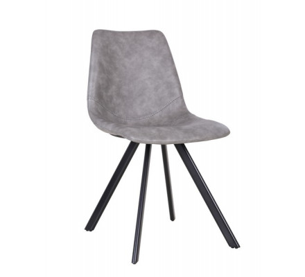 "Chaise scandinave gris ""Loin"""