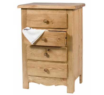 "Commode 4 tiroirs pin massif ""Brunswick"" Casita"