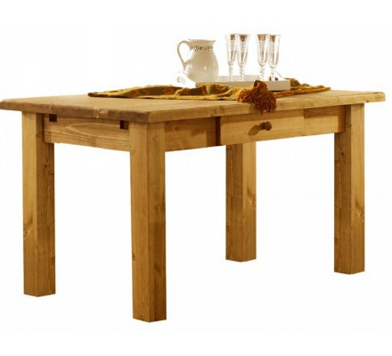 "Table 1 tiroir pin massif ""Brunswick"" Casita 140cm"