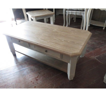 """Table basse rectangulaire 130 cm """"Charme"""""""