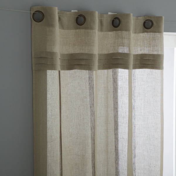 rideaux lin. Black Bedroom Furniture Sets. Home Design Ideas