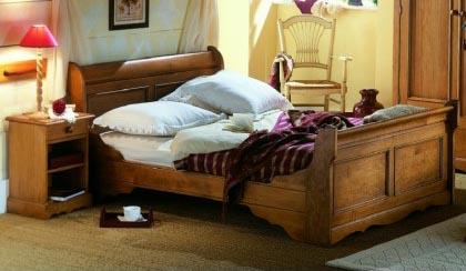 Literie trouvez votre lit id al meuble house - Lit bois exotique massif ...